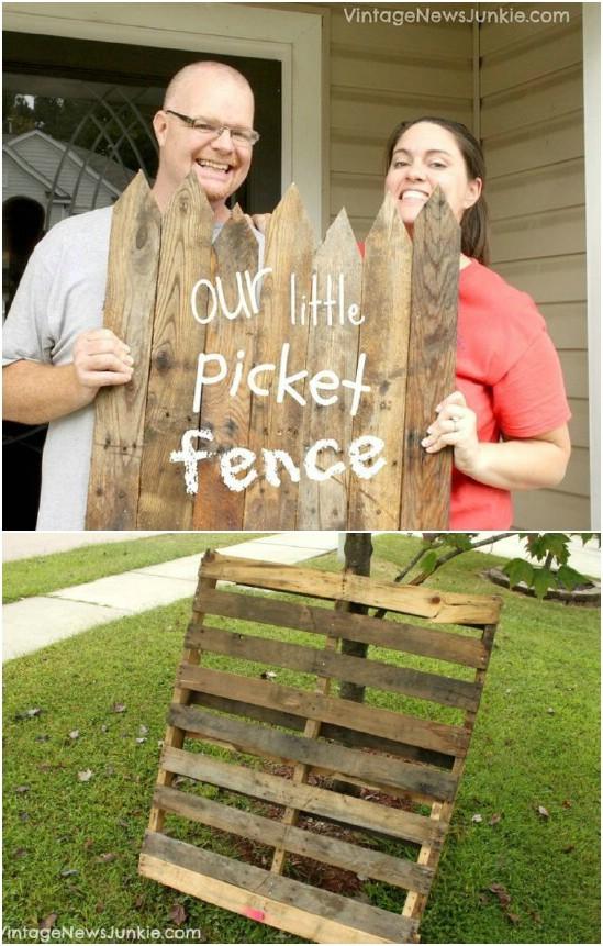 DIY Garden Picket Fence