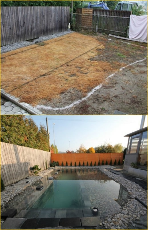 DIY Lighted Natural Swimming Pool