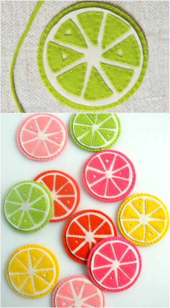 Colorful Summer Citrus Coasters
