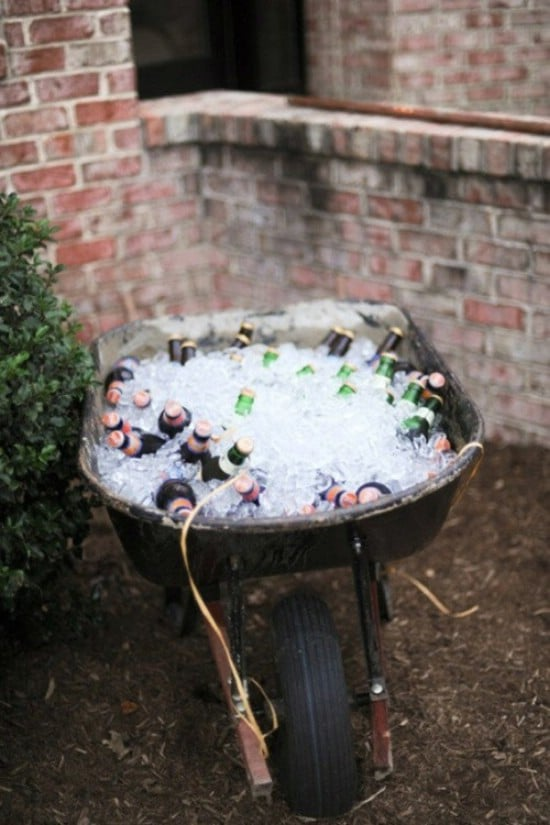 Quick And Easy Wheelbarrow Cooler