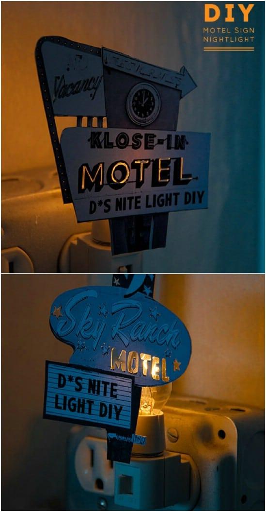 Whimsical DIY Motel Sign Nightlight