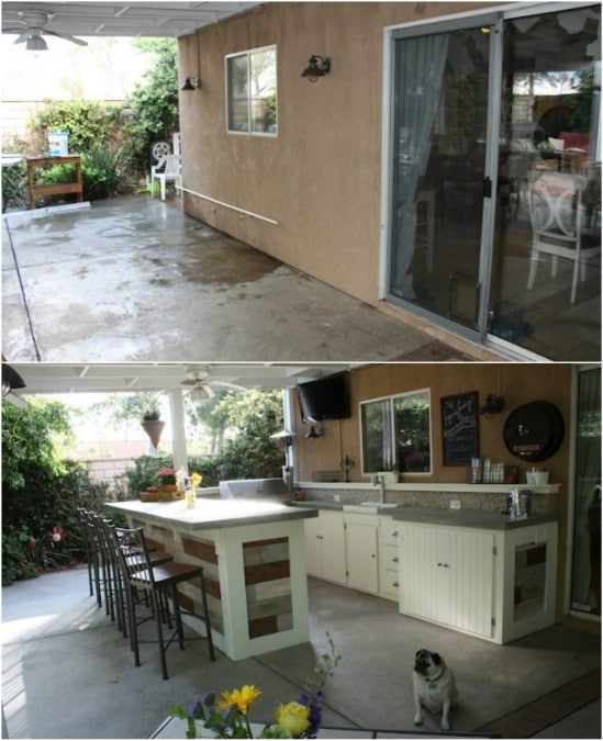 DIY Outdoor Kitchenette