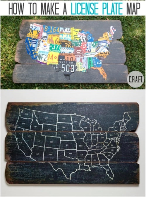 50 States License Plate Mat