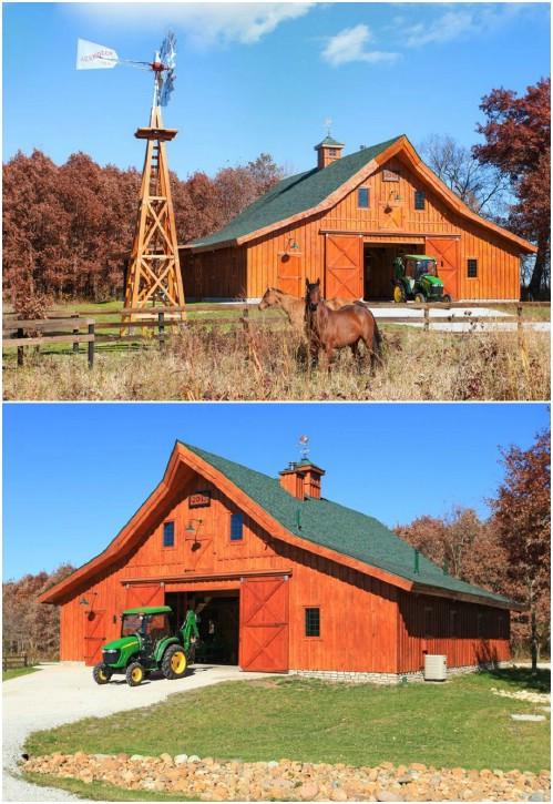 Five Foot Treated Wood DIY Garden Windmill