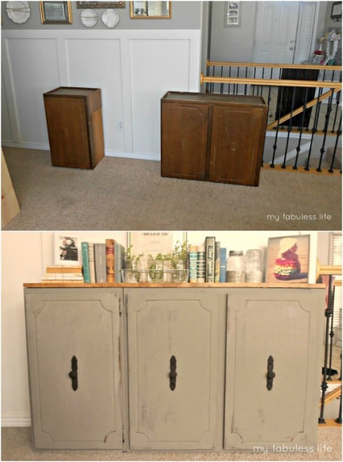Diy Repurposing Ideas For Old Kitchen Cabinets