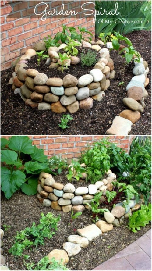 Easy DIY Spiral Rock Garden