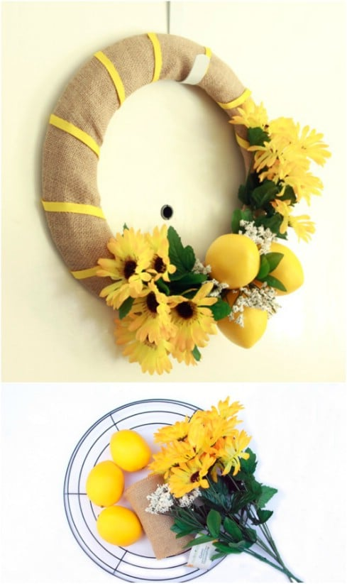 25 Gorgeous Diy Summer Wreaths You Can Make With Dollar Store Supplies Diy Amp Crafts
