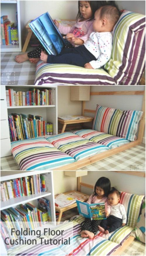Huge DIY Folding Floor Cushion