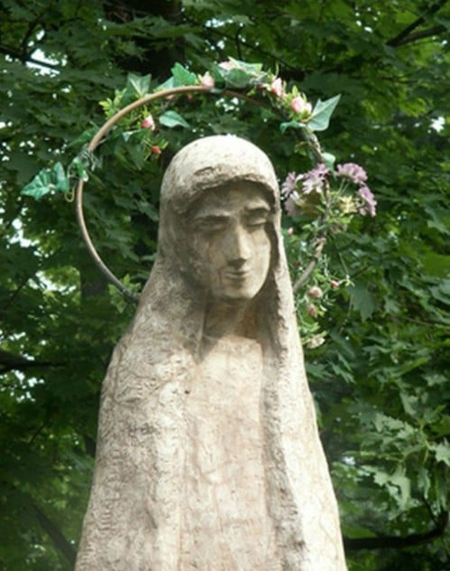 DIY Concrete Garden Statue