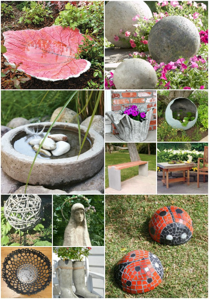 15 Near Genius DIY Concrete Ornaments That Add Beauty To Your Garden