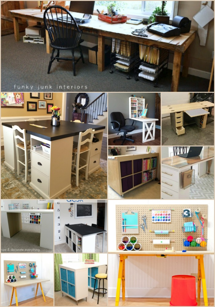 17 Easy To Build DIY Craft Desks You Just Can't Live Without