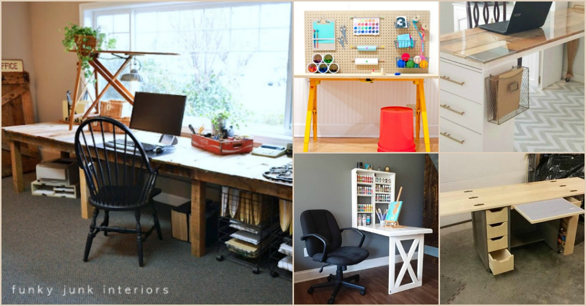 17 Easy To Build DIY Craft Desks You Just Can't Live ...