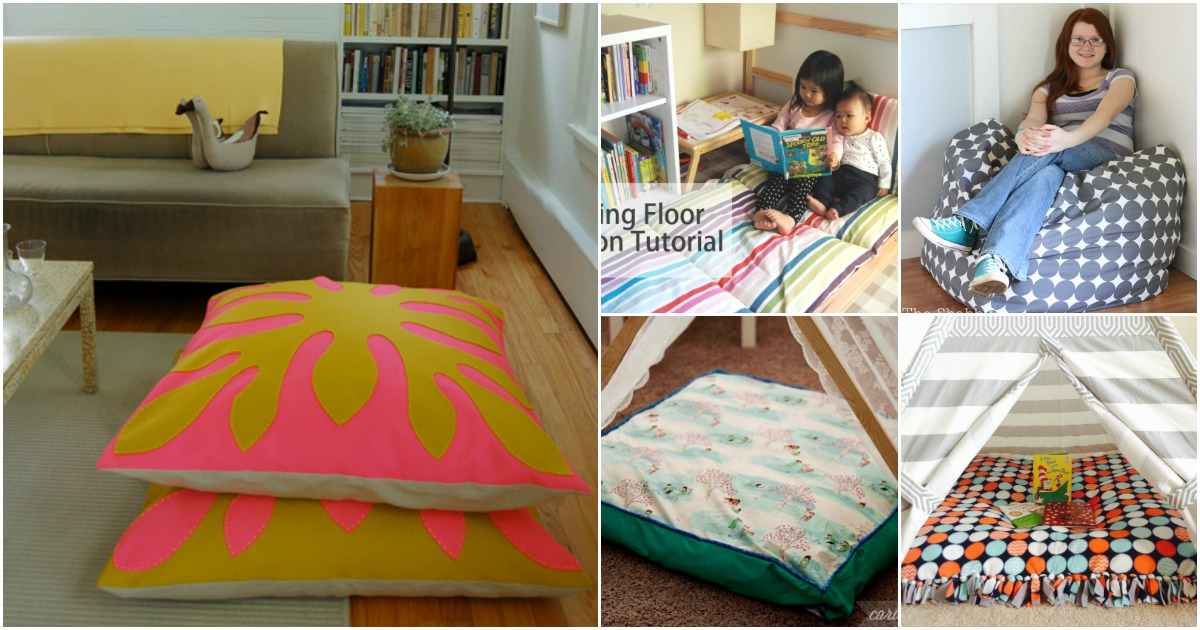 22 Easy Diy Giant Floor Pillows And Cushions That Are Fun