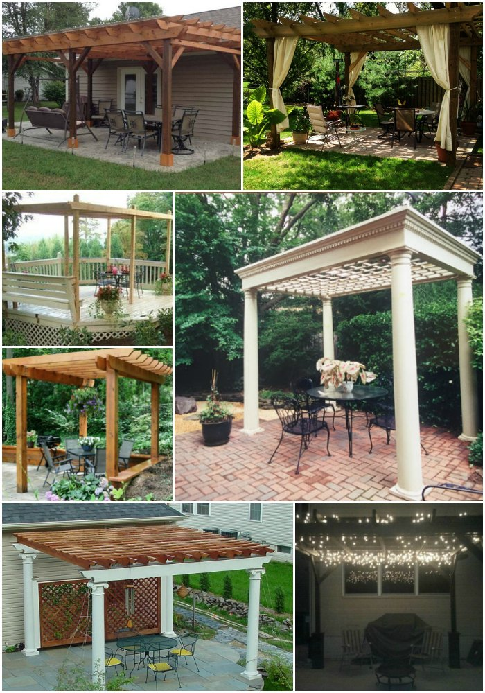 20 DIY Pergolas With Free Plans That You Can Make This Weekend - 20 DIY Pergolas With Free Plans That You Can Make This Weekend - DIY