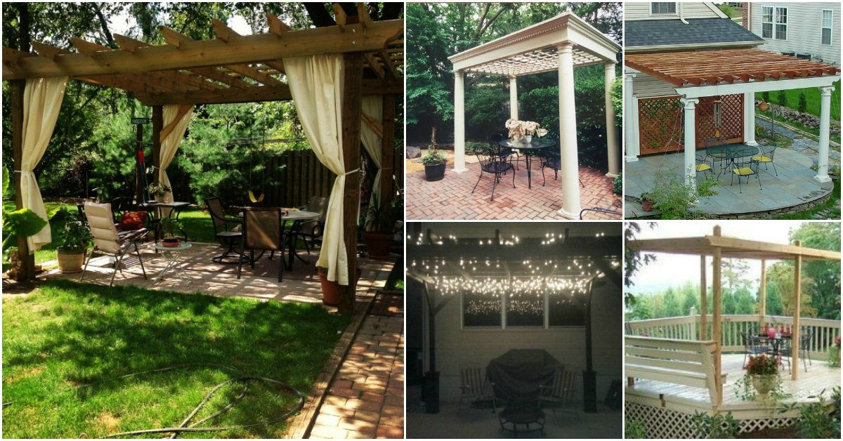 20 DIY Pergolas With Free Plans That You Can Make This Weekend - DIY &  Crafts - 20 DIY Pergolas With Free Plans That You Can Make This Weekend - DIY