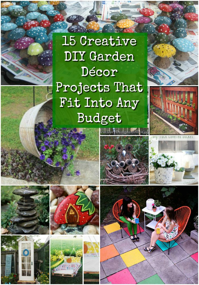 whether you want something to decorate the porch like a faux succulent monogram or you prefer something in the garden like a rustic bucket planter - Diy Garden Decor