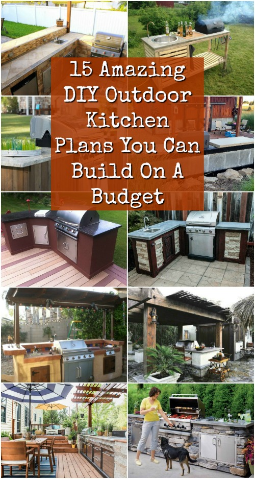 15 Amazing DIY Outdoor Kitchen Plans You Can Build On A Budget   DIY U0026  Crafts