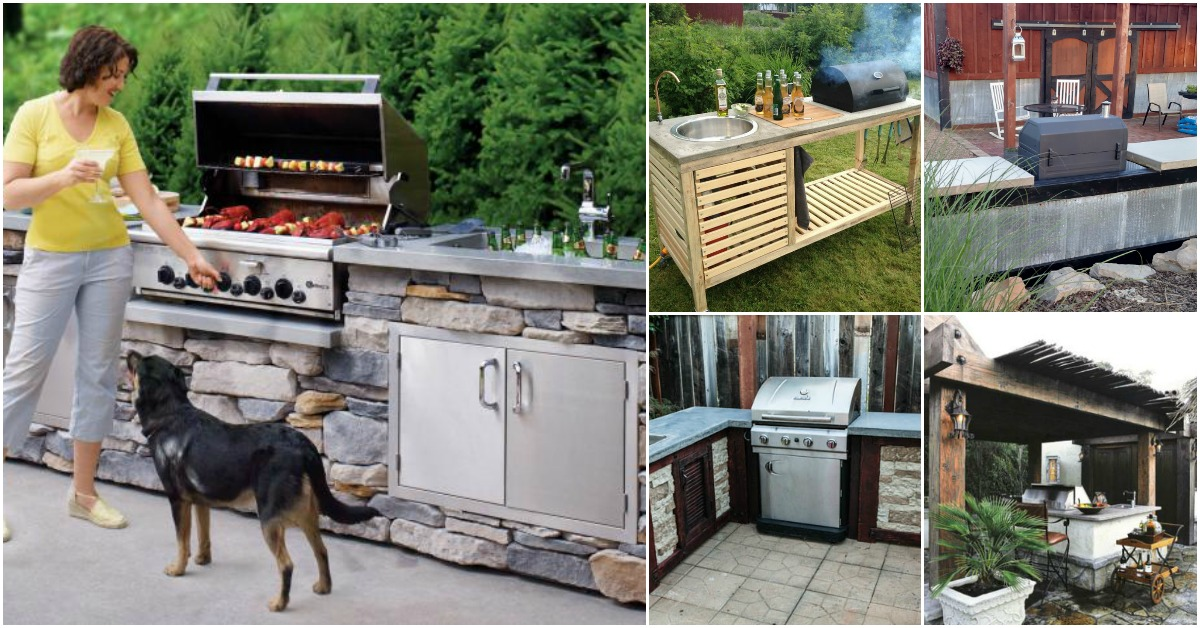 outdoor kitchen cabinets diy 15 amazing diy outdoor kitchen plans you can build on a 24149