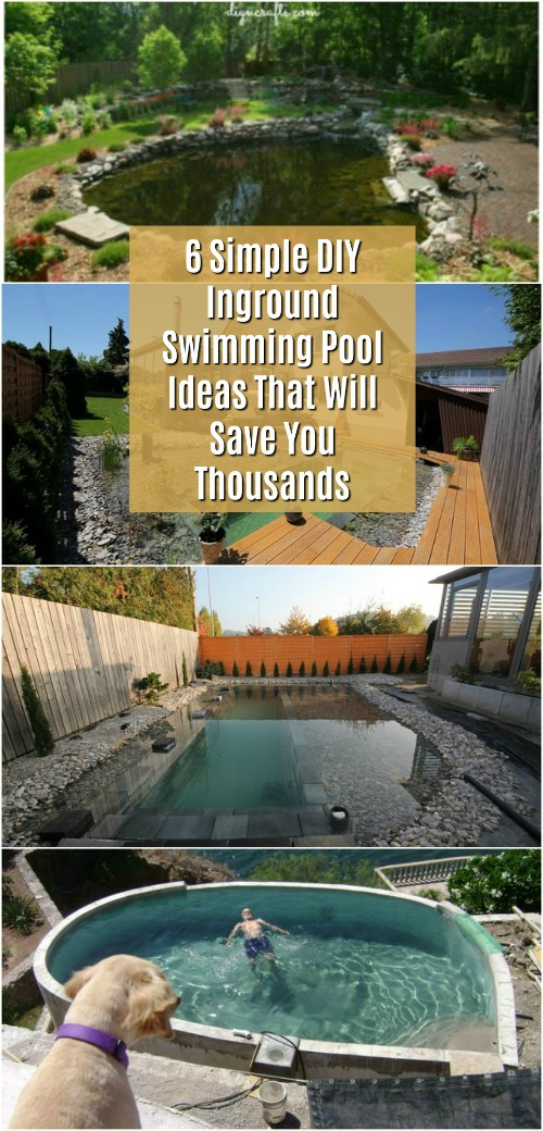 6 Simple DIY Inground Swimming Pool Ideas That Will Save You Thousands    DIY U0026 Crafts