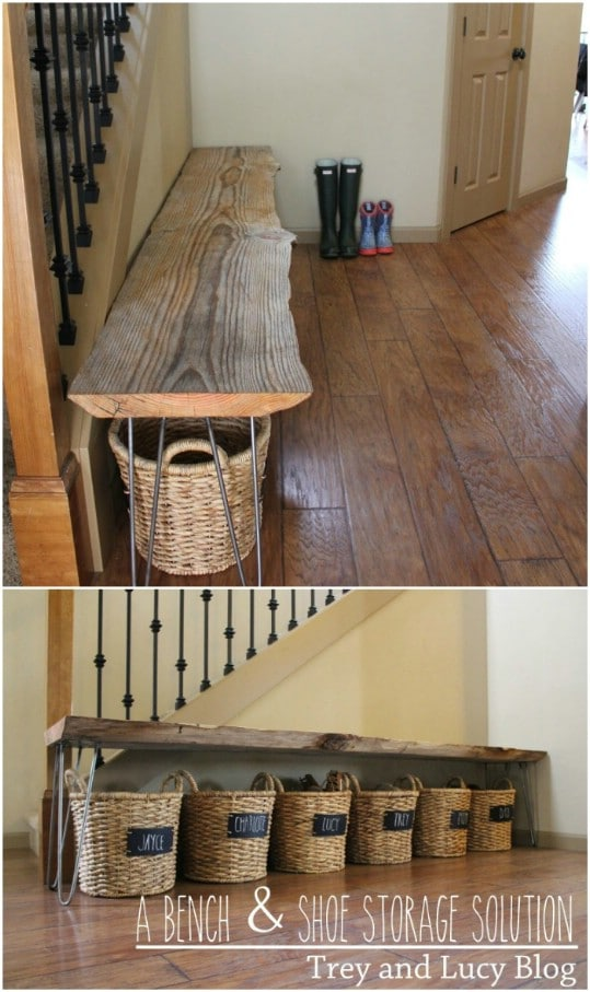13 Clever DIY Shoe Storage Ideas
