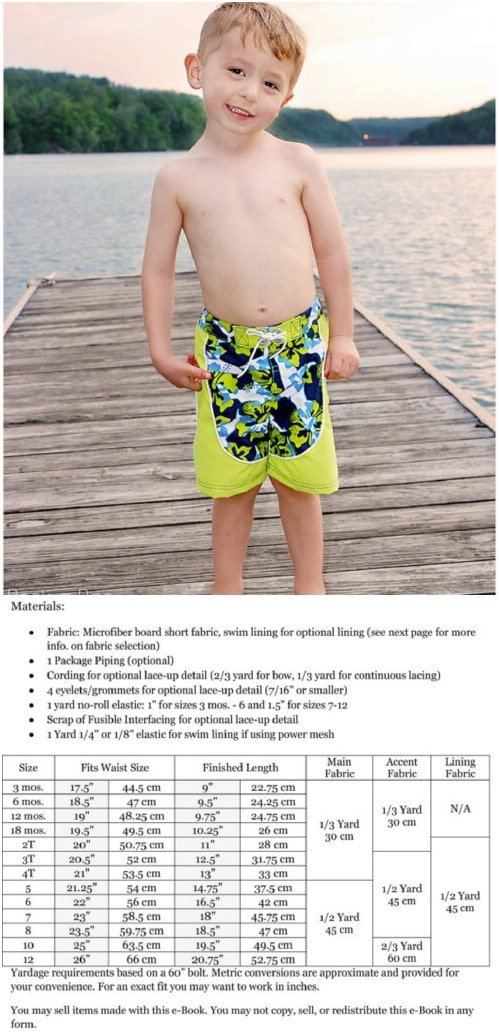 Boy's Size Cowabunga Swimming Trunks