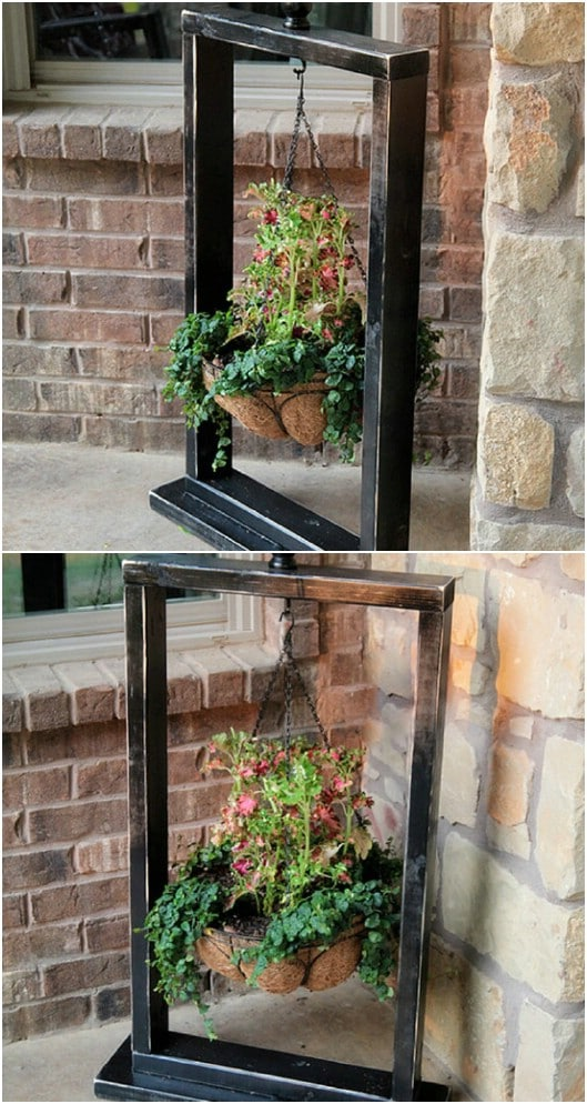 10 Easy DIY Outdoor Plant Stands To Show Off Those Patio ... on Stand For Hanging Plants  id=36851