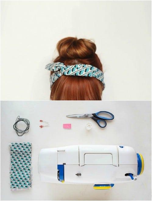 Easy 10 Minute Scrap Fabric Headband