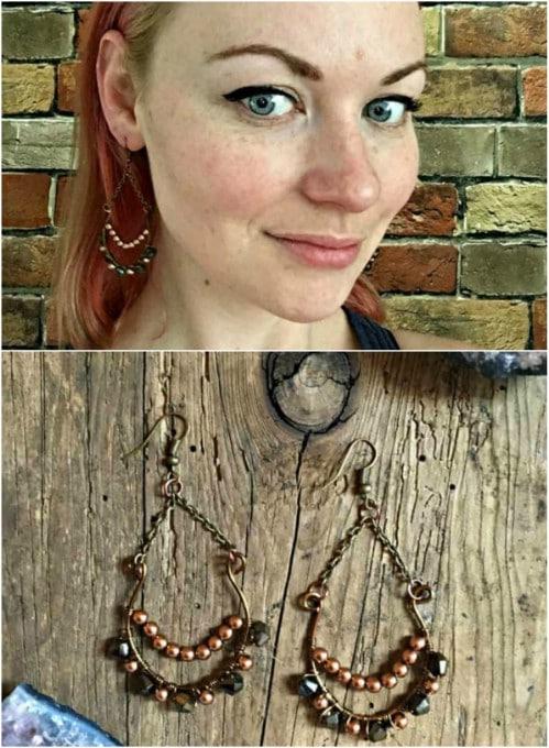 Simple DIY Double Tiered Earrings