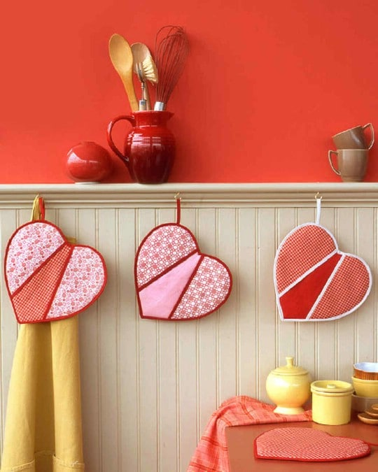 DIY Heart Shaped Pot Holders