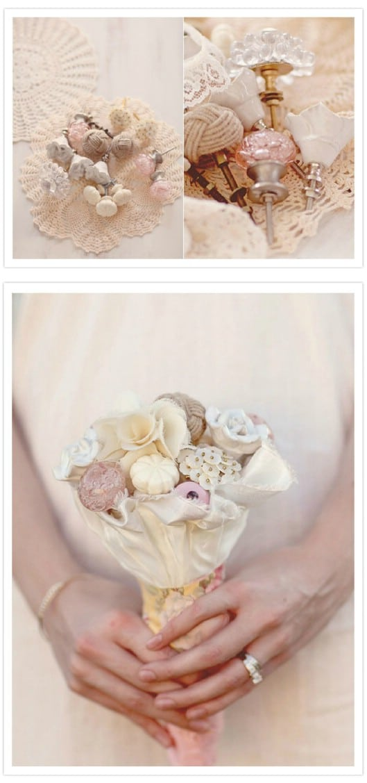 DIY Knob And Pull Bridal Bouquet