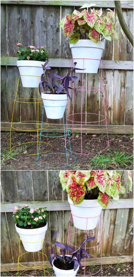 10 Easy Diy Outdoor Plant Stands To Show Off Those Patio