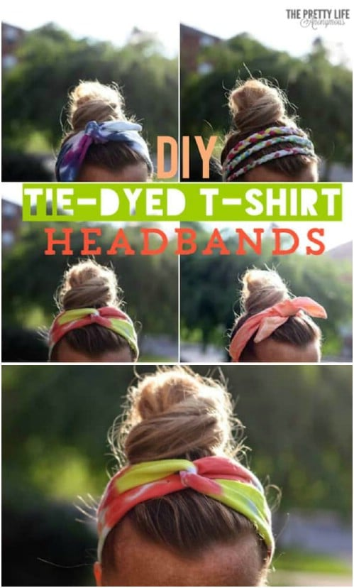 Tie Dye Upcycled T-Shirt Headbands
