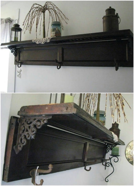 Rustic Shutter Wall Shelf