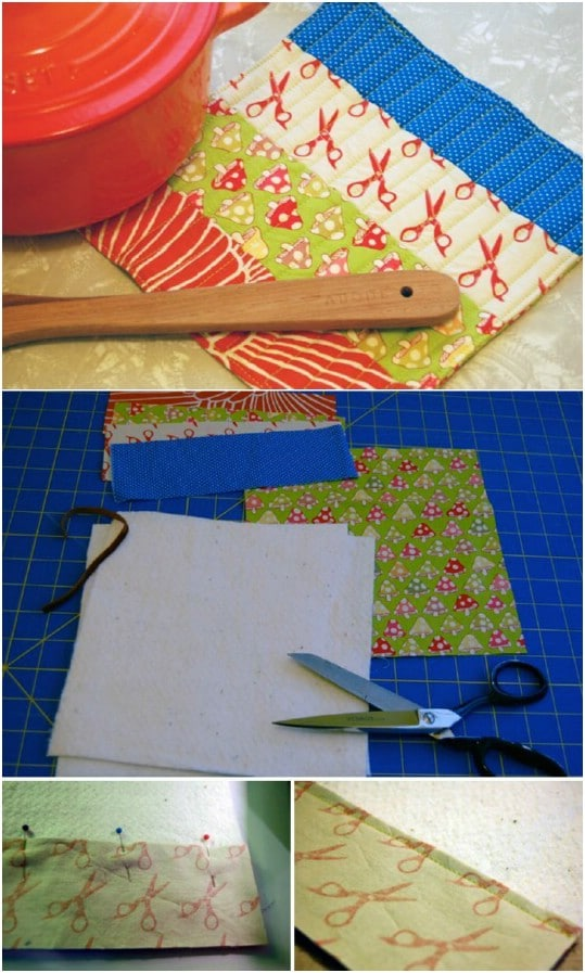 Simple Scrap Fabric Pot Holder