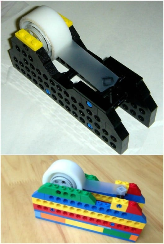Cute And Colorful DIY Lego Tape Dispenser