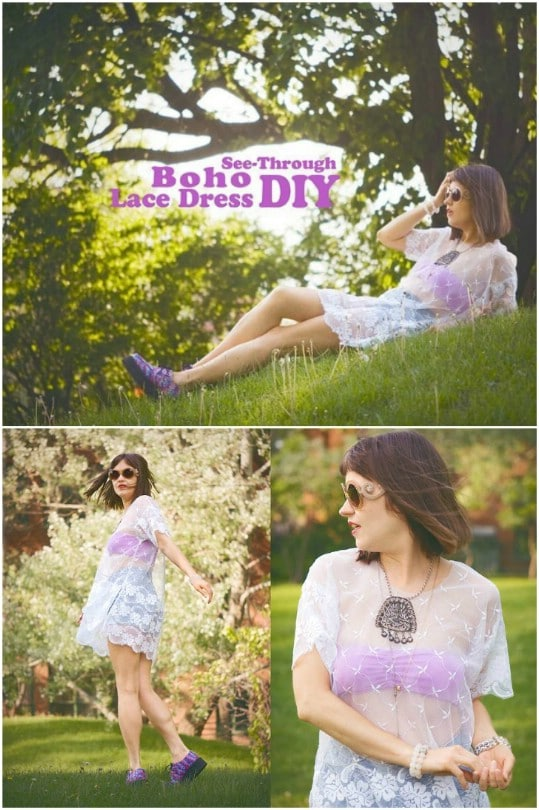 DIY See Through Boho Lace Dress