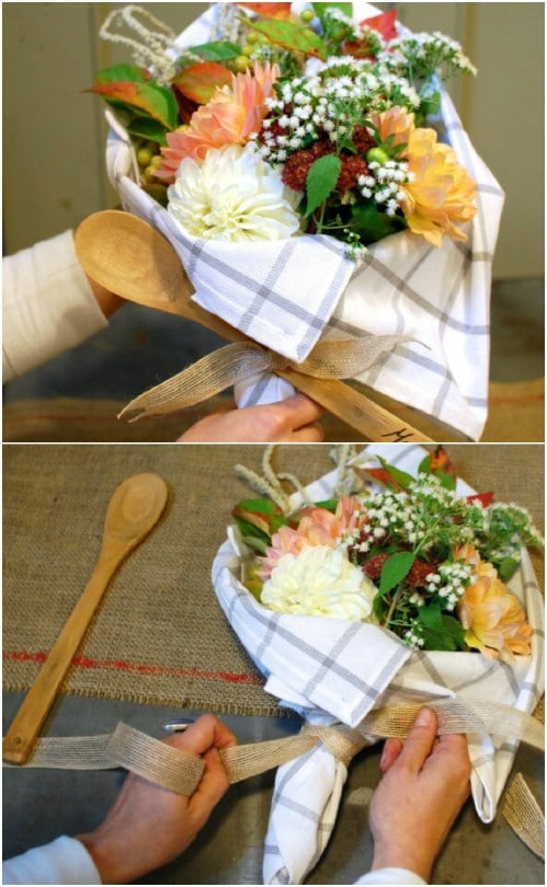 Adorable DIY Kitchen Supplies Bouquet