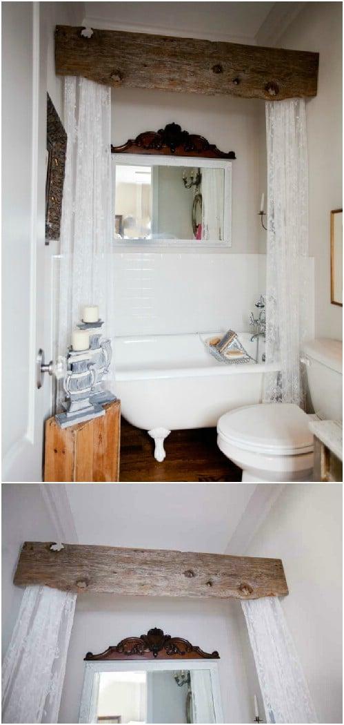 DIY Barnwood Bathroom Valance