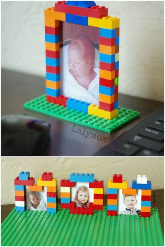 Personalized DIY Lego Picture Frames