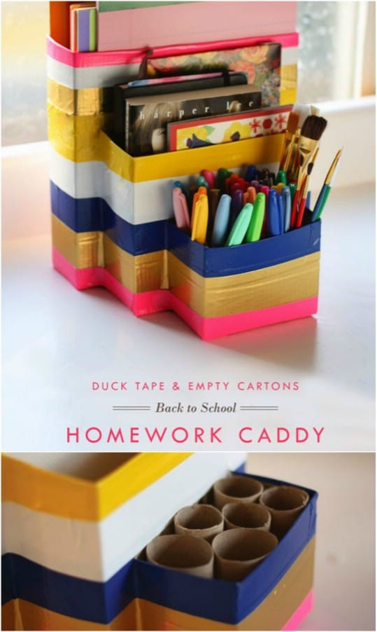 15 DIY Desk Organizers For More Productive Work