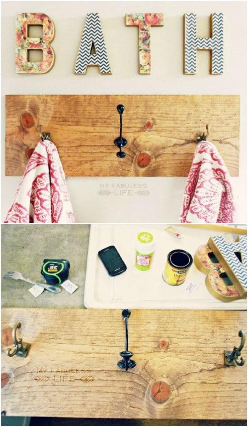 Easy DIY Plank Towel Hanger
