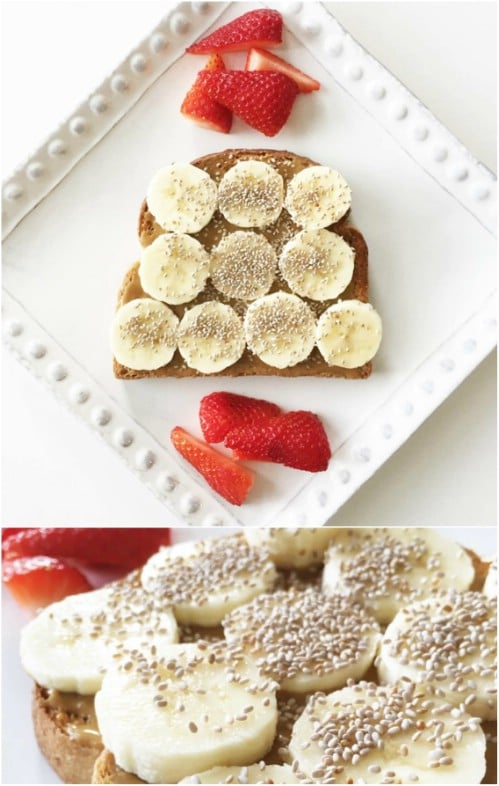 Sun Butter, Banana And Chia Seed Breakfast Toast