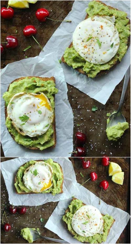 Skinny Fried Egg On Avocado Toast