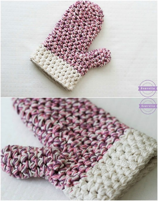 DIY Crocheted Oven Mitt