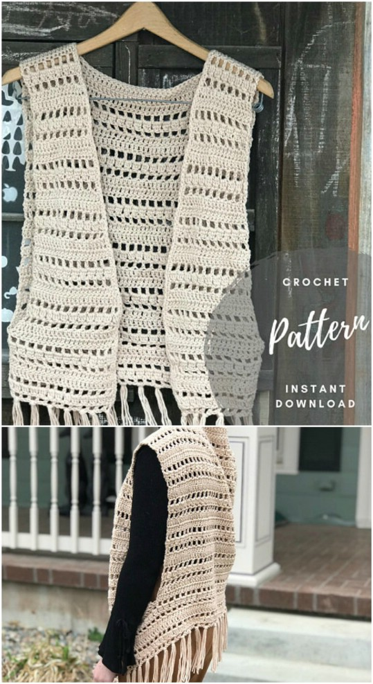 Simple DIY Crocheted Vest