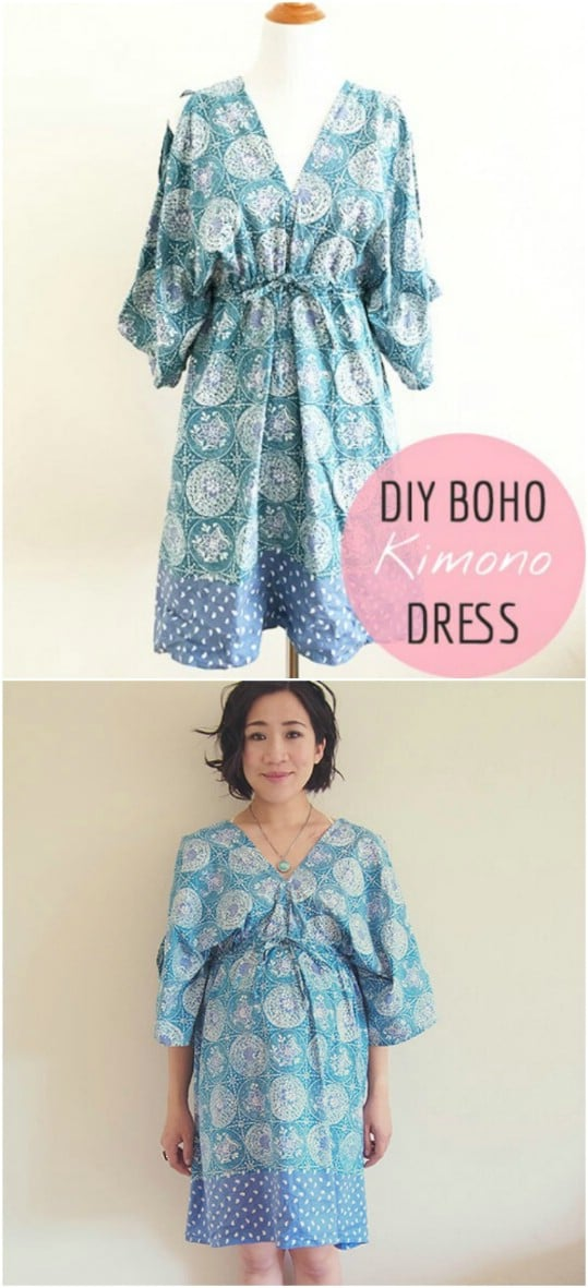 Easy To Sew Kimono Dress