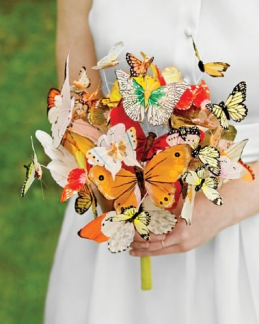 Gorgeous DIY Butterfly Bouquet