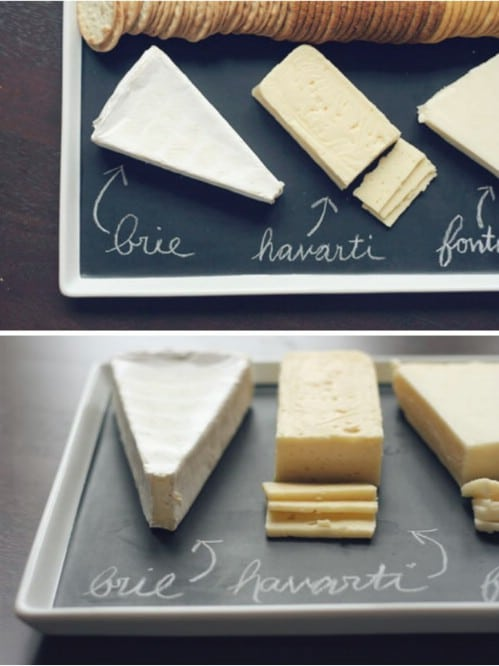 Easy DIY Chalkboard Serving Platter