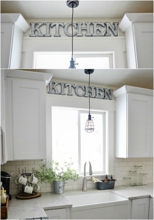 DIY Industrial Metal Kitchen Sign