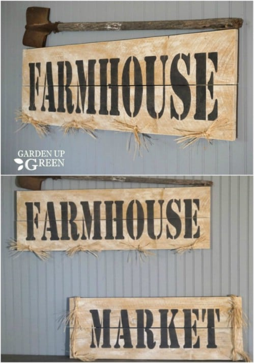 DIY Farmhouse Market Sign
